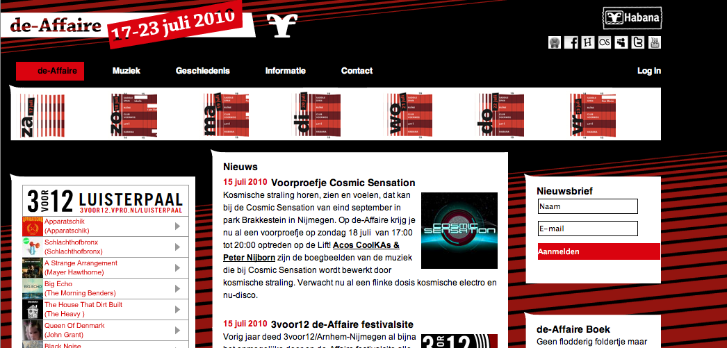 Nieuwe website festival de-Affaire