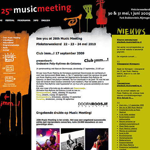 Restyle Website Music Meeting