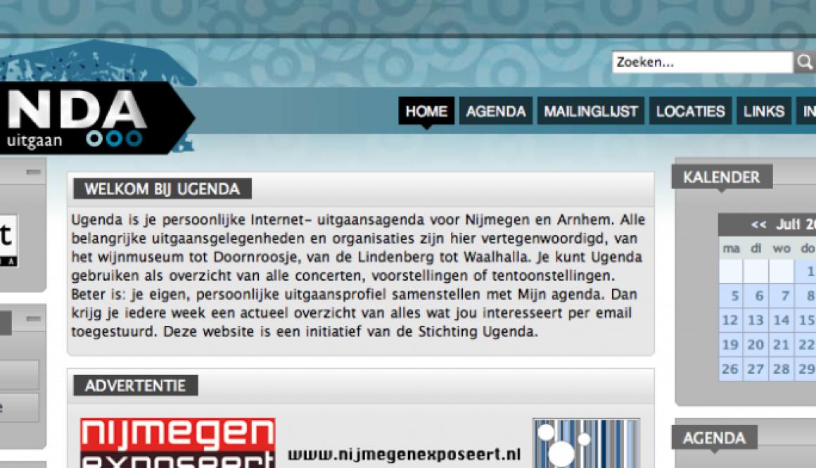 Nieuwe website Ugenda