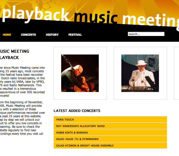 Music Meeting playback-site onine