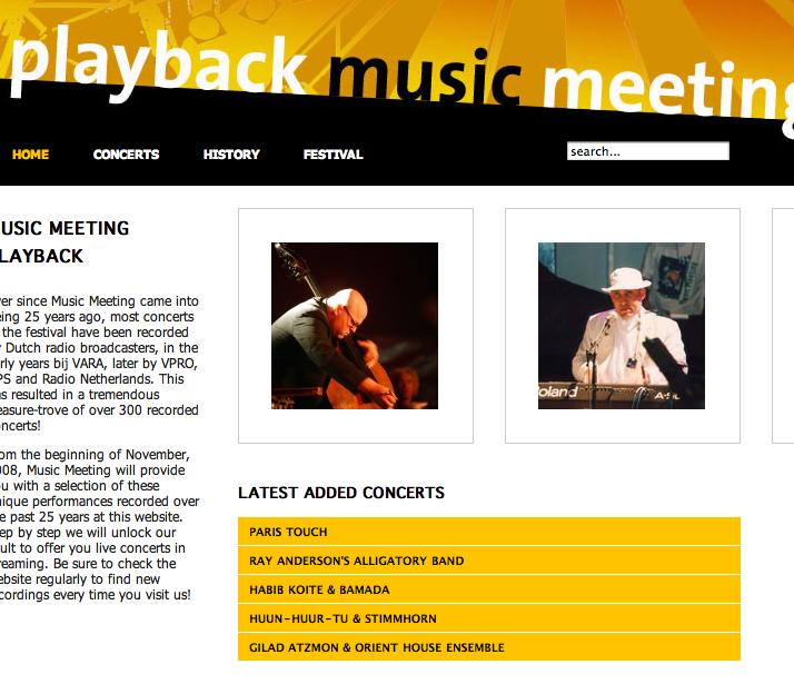 Music Meeting playback-site onine